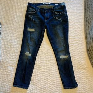 Zara destructed denim